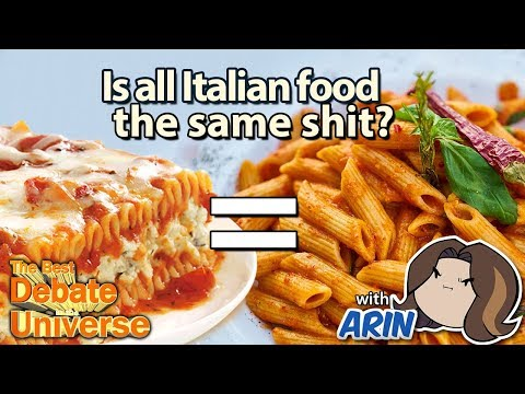 Is Italian food the same shit? Guest: Arin / Egoraptor from Game Grumps!