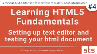 Setting up text editor and testing your html document into browser | HTML Tutorial Series 2016 #4