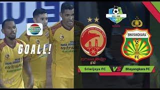 Goal Sundulan Esteban Vizcarra - Sriwijaya FC 1 v 0 Bhayangkara FC | Go-Jek Liga 1 bersama Bukalapak