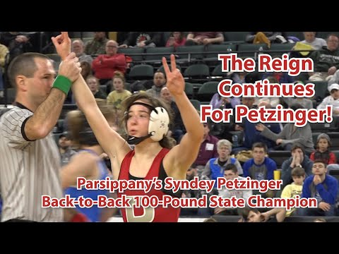 Parsippany's Sydney Petzinger Wins 100-Pound State Title   N.J. Wrestling Finals In Atlantic City