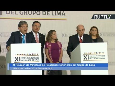 Declaración final del Grupo de Lima sobre la situación en Venezuela