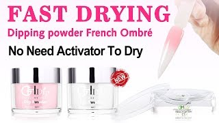 【Fast Drying Dip Powder 】 to do Pink & White Color Ombre French Dip Nails