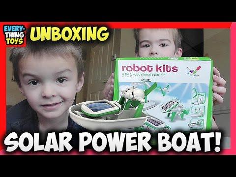 Solar Power For Kids DIY Solar Robot Kit DIY Toys Boat Fan Car!