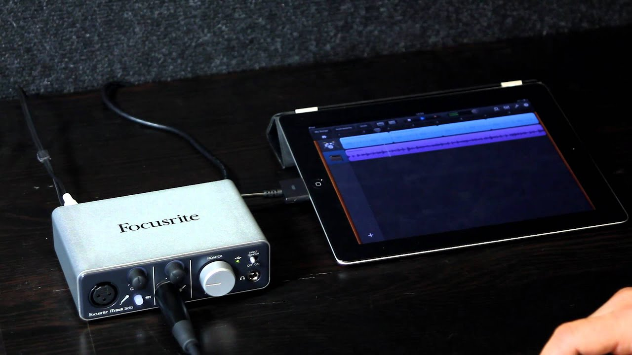 focusrite itrack solo ipad audio interface audio demonstration youtube. Black Bedroom Furniture Sets. Home Design Ideas
