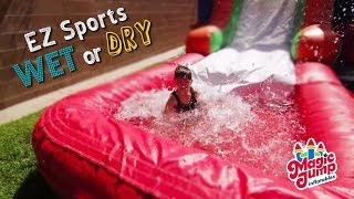 Ez Sports Wet Or Dry - Combo Water Slide Inflatable | Magic Jump, Inc.