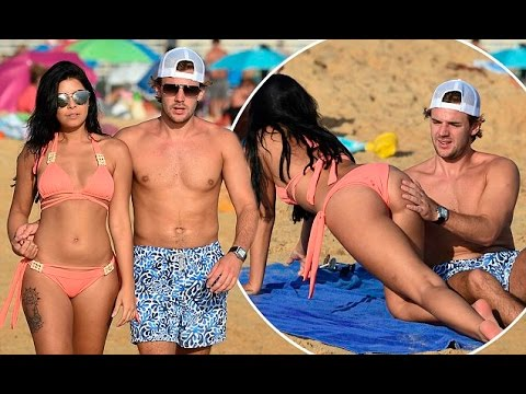 Love Island's Cara De La Hoyde and Nathan Massey get VERY hands on as they pack on the PDA during ro