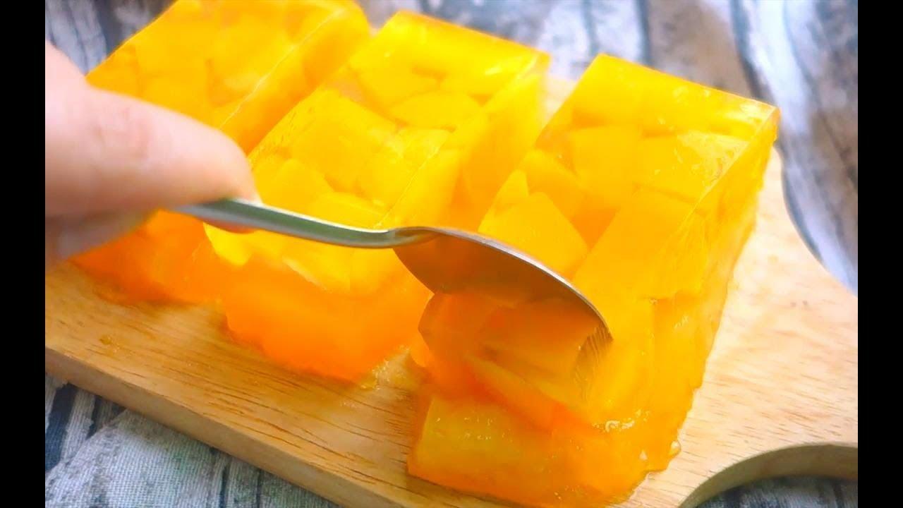 【芒果果凍】在家做無添加劑的芒果果凍 - YouTube