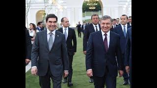 Шавкат Мирзиёев ва Гурбангули Бердимуҳамедов Тошкентда