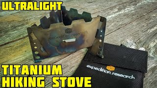 Cooking stove for hiking (titanium)