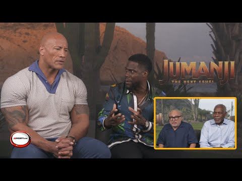 jumanji-the-next-level---interview-with-the-rock,-kevin-heart,-danny-devito-and-danny-glover