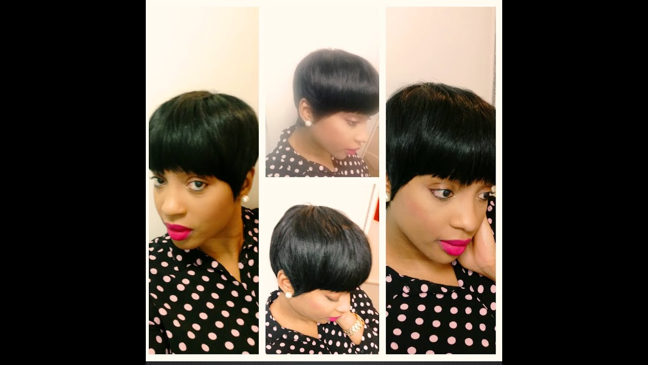 Short Classy Mushroom Quickweave Haircut Youtube