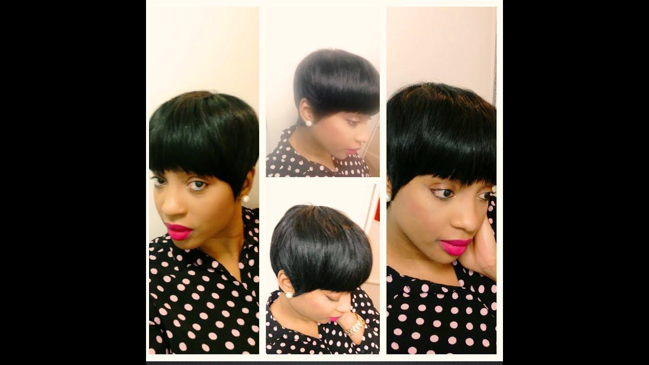 short, classy, mushroom quickweave haircut!!!!