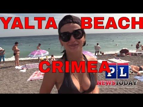Yalta Beach Crimea: Politics, Tourism & Business (RUS & ENG SUBS)