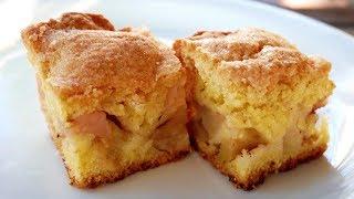 Обалденный Яблочный Пирог за 10 минут! Быстрый пирог из песочного теста на скорую руку.