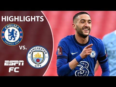 QUADRUPLE DREAM OVER! Ziyech sends Chelsea past Man City & into final | ESPN FC FA Cup Highlights