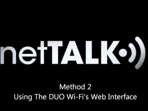 netTALK's How to Setup Your DUO Wi-Fi for Advanced Users