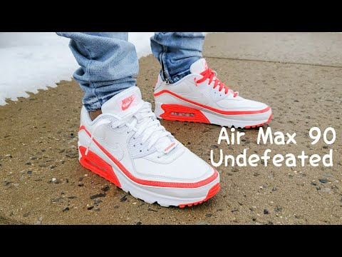Air Max 90 Undefeated Solar Red Unboxing On Feet Youtube