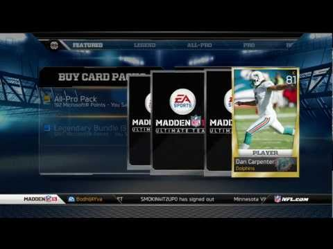 Madden Ultimate Team All-Pro Pack Opening