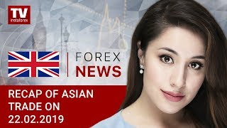 InstaForex tv news: 22.02.2019: Greenback fails to reach previous highs (USDX, USD/JPY, AUD/USD)