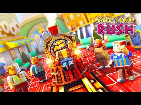 PAPER TRAIN RUSH - iOS / Android Gameplay Trailer HD