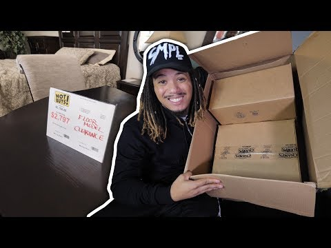 UNBOXING 2 EXCLUSIVE SNEAKERS FROM DJ KHALED !!! SHOPPING FOR FURNITURE NEW FURNITURE !!!