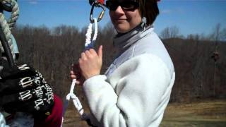 Caden and Mom Zip Line