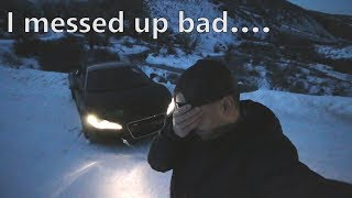 Drove my Audi R8 into the ditch, IT GOT WORSE quickly... *A Bad Situation*