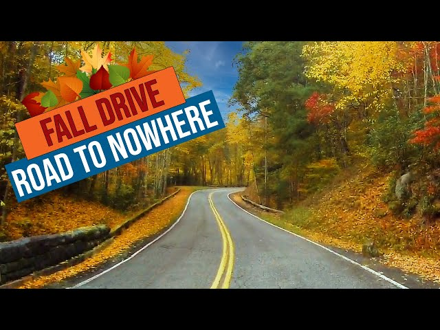 Fall Drive along the Road to Nowhere