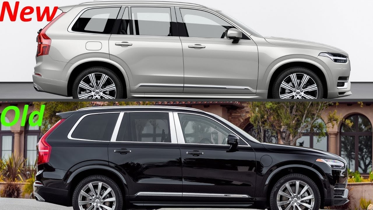 new 2020 volvo xc90 facelift vs  old 2018 volvo xc90