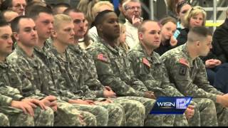 Wis. National Guard unit says goodbyes to family, friends