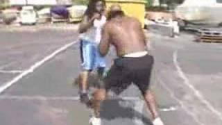 Kimbo Slice Fight vs Peter Thompson Dreads - Rasta