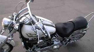 2002 fxstdi harley davidson softail deuce custom white paint vance and hines high flow