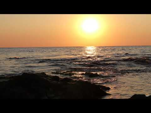 ASMR   (4K) Relaxing Sunset and Wave Sounds at the Beach   Nature Sounds