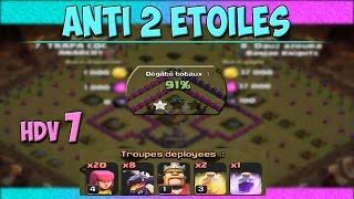 Modèle de Village HDV 7 Anti 2 Etoiles contre les Dragons! - Clash of Clans