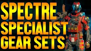 Black Ops 3 SPECTRE Specialist Personalization Gear Sets // How to Get Custom Armor