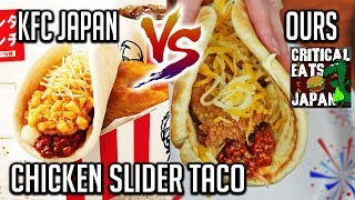 KFC JAPAN | Chicken Slider TACO Recipe & Review Collab with Critical Eats Japan