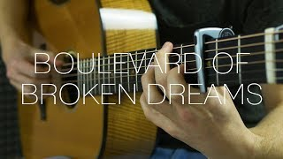 Green Day Boulevard Of Broken Dreams Fingerstyle Guitar Cover