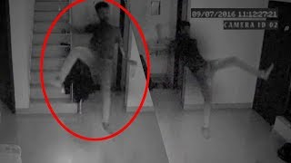 Cryptozoology Ghostly Figure Passing Caught On CCTV Camera Ghost Attack CCTV Footage Real Ghost