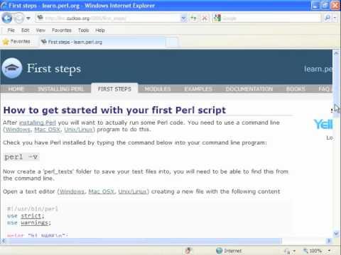 Perl Script Lessons
