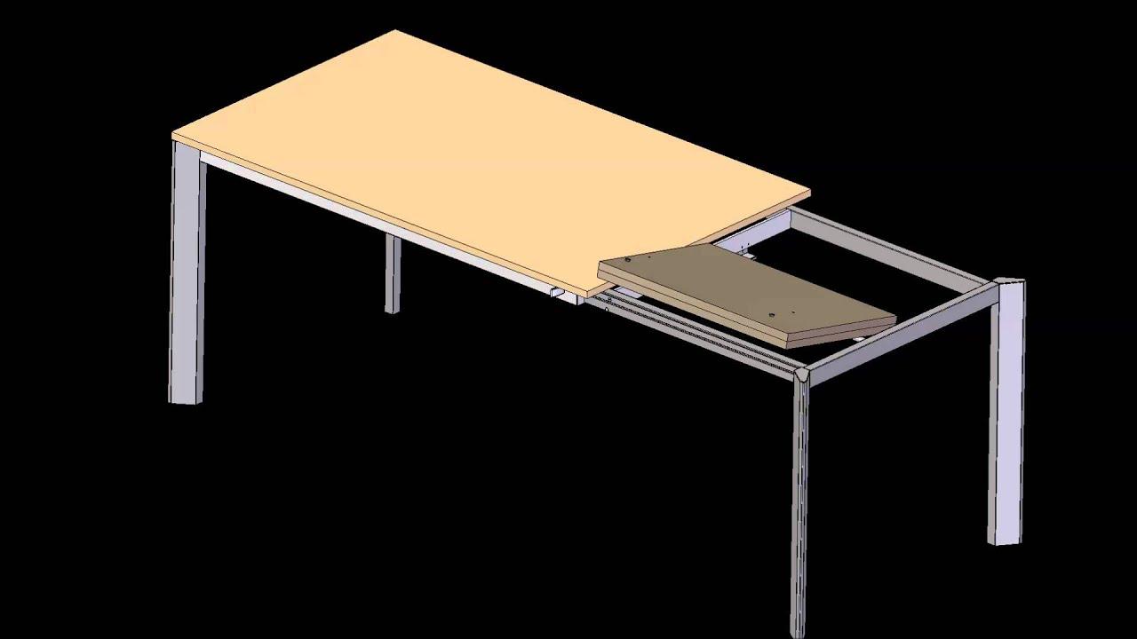 Tavolo Fly Allungabile Mondo Convenienza.F12l Meccanismo Per Tavolo Con Una Allunga A Libro