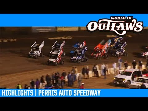 World of Outlaws NOS Energy Drink Sprint Cars Perris Auto Speedway March 30, 2019 | HIGHLIGHTS