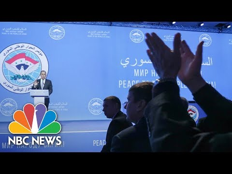 Russian Foreign Minister Sergey Lavrov Heckled At Peace Conference | NBC News