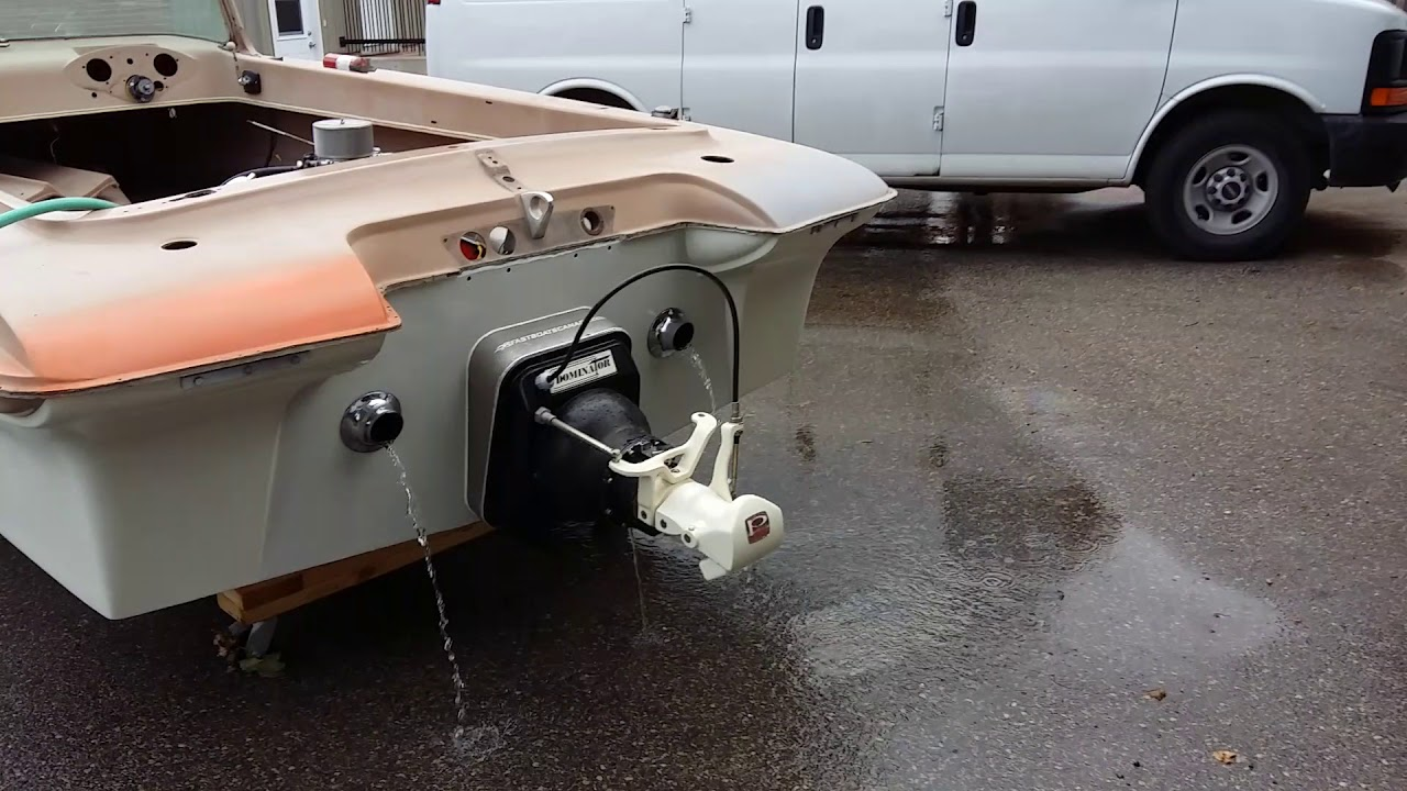 OMC Deluxe 350/Jet drive conversion walk around and engine sound