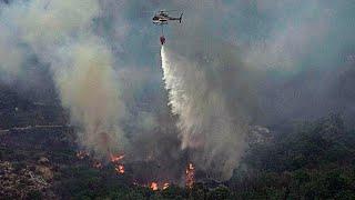 video: Hundreds forced to evacuate as wildfires ravage Sardinia