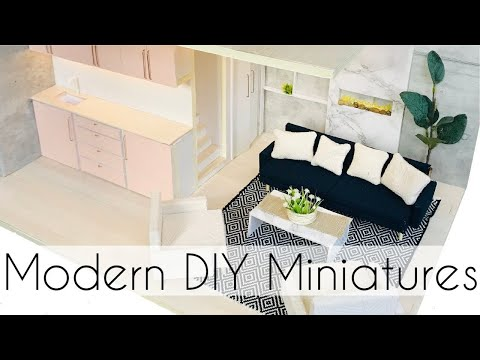 Modern DIY Dollhouse & DIY Furniture for Barbie Dolls