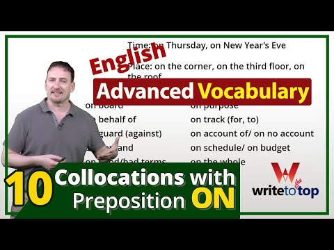 10 Collocations with Preposition ON (Advanced Vocabulary)