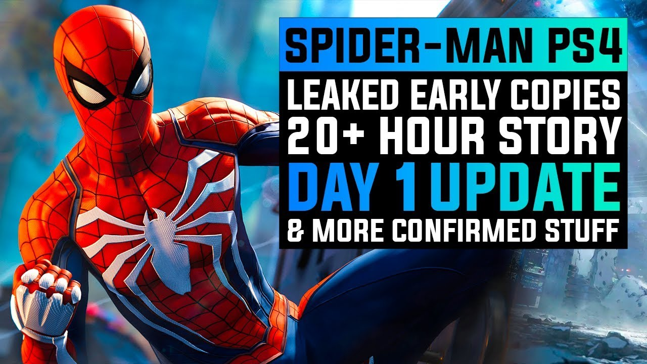 Spiderman Ps4 Early Copies Already Leaked All Suits Day