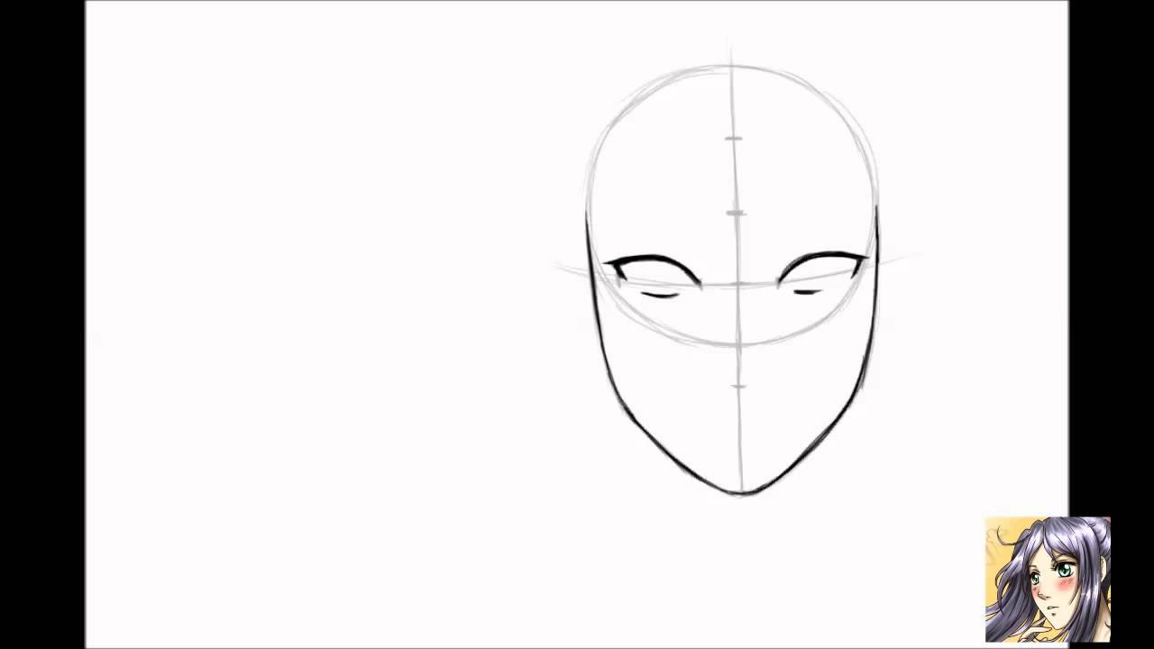 Tutorial come disegnare il viso manga ragazza for Disegnare la mia planimetria