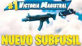 JUGANDO con *NUEVO* ARMA! SUBFUSIL! FORTNITE: Battle Royale