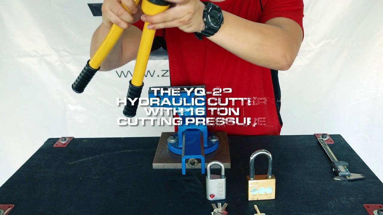 ZETA ZR45 Open Shackle Padlock Anti-Cut Test
